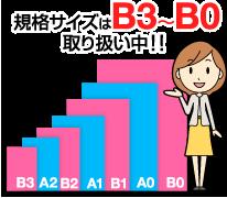 規格サイズはB3からB0まで取り扱い中